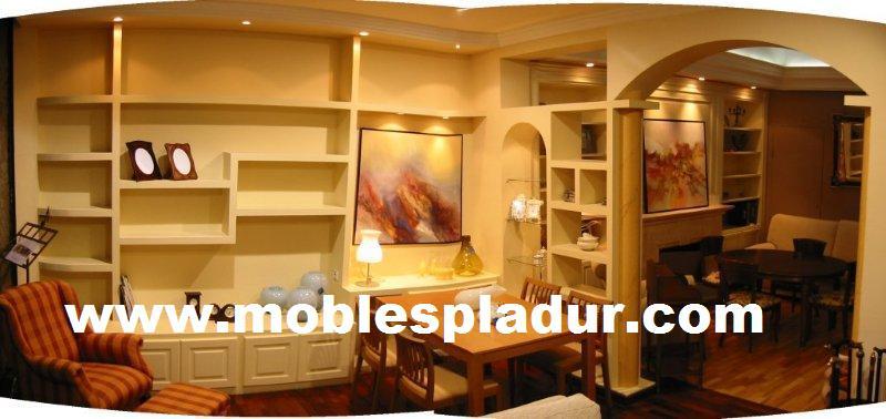 Soluciones pladur muebles decoraci n tabiques y techos - Muebles pladur para salon ...