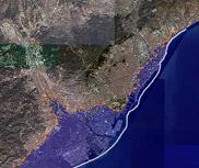 Previsión de inundaciones en Barcelona si sube el nivel del mar.