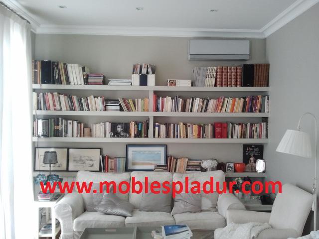 Soluciones pladur muebles decoraci n tabiques y techos - Estanterias de escayola ...