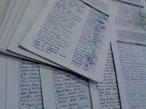 Hojas para la recogida de firmas por nuestro río Alberche