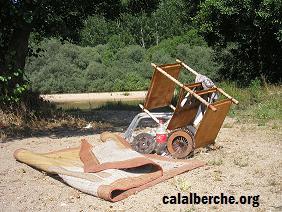 En esta foto se puede apreciar los restos de un embrague cambiado...