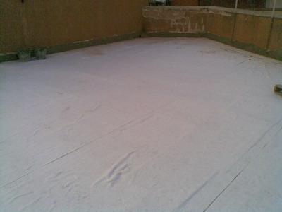 Protección del aislamiento con geotextil