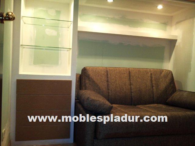 Techos pladur decorativos iluminacin aislantes for Sofa cama armario