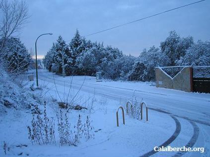 Aspecto que presentaban las calles de Calalberche